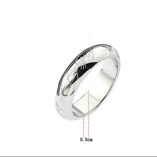 Яркое серебристое кольцо из титановой стали  76.000
