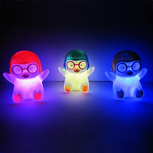 Светильник ночной светодиодный в форме пингвина (случайный цвет)