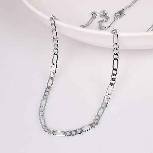 Муж. Ожерелья-цепочки - Уникальный дизайн, Мода Серебряный Ожерелье Назначение Свадьба, Для вечеринок, Подарок бижутерия в подарок