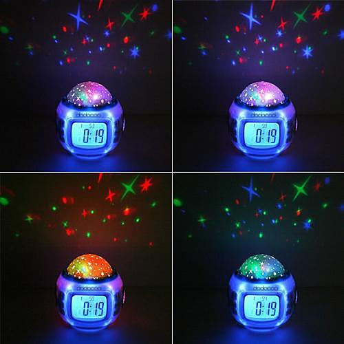 Музыкальная лампа прожектор звездное небо, с функциями будильник, календарь, термометр от MiniInTheBox.com INT