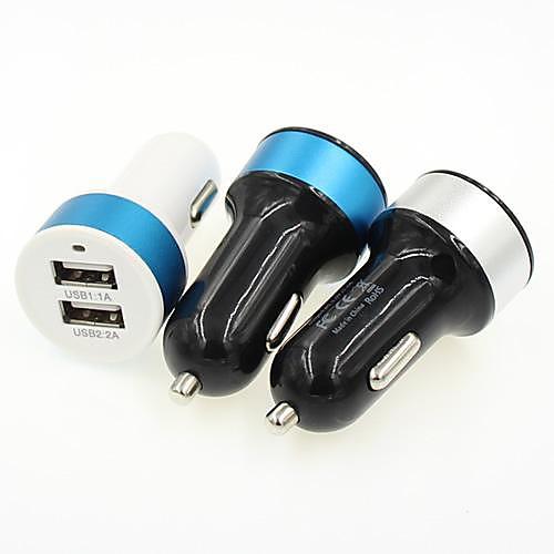 Универсальный двойной 2-портовый USB-адаптер, автомобильное зарядное устройство для IPhone IPad HTC Samsung (разные цвета) от MiniInTheBox.com INT