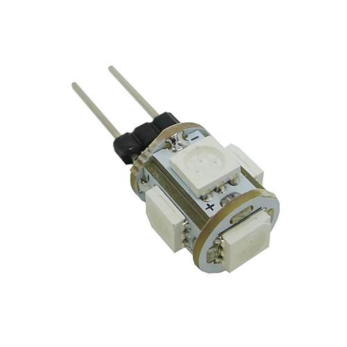 0.5W 35-45 lm G4 LED лампы типа Корн T 5 светодиоды SMD 5050 Тёплый белый Холодный белый Зеленый Синий DC 12V