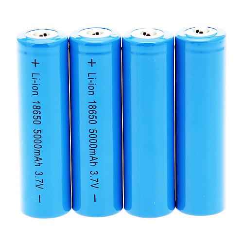 18650 батарея Аккумуляторные батареи 5000.0 мАч 4шт Перезаряжаемый для Походы/туризм/спелеология