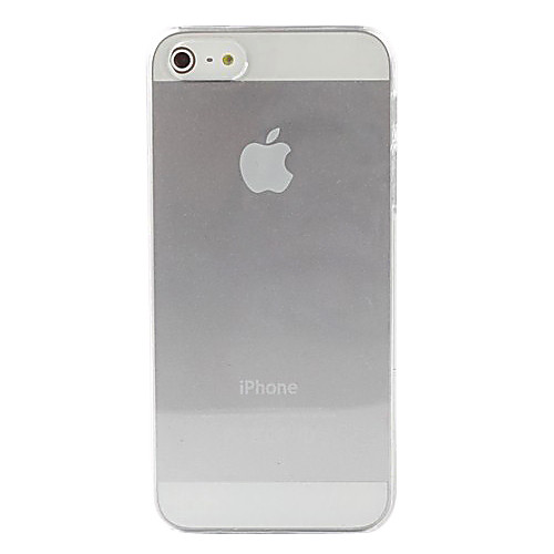 Кейс для Назначение iPhone 5 Apple Кейс для iPhone 5 Прозрачный Кейс на заднюю панель Сплошной цвет Твердый ПК для iPhone 5