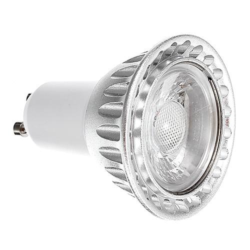 6w gu10 led spotlight 1 cob 250-300lm теплый белый dimmable ac 220-240 v
