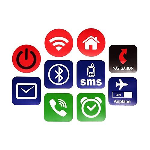 NXP ntag203 144 байт 13,56 смарт NFC метки набор наклеек для мобильных телефонов (10 шт)