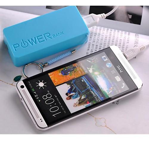 Универсальный внешний аккумулятор для IPhone 6/6 Plus / 5 / 5S / Samsung S4 / S5 / Note 2 (разные цвета, 5200 мАч) от MiniInTheBox.com INT