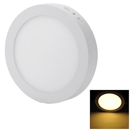 Marsing Прямая Установка 18W 1600lm 6500K 90-SMD 2835 Светодиодные лампы теплый белый Потолочный светильник - (85 ~ 240 В)