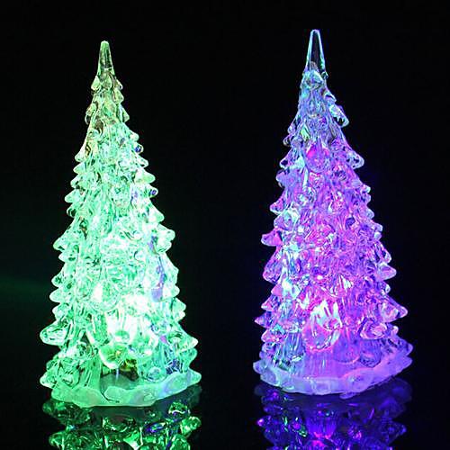 Coway Кристалл Рождественская елка Light Красочный светодиодной Night Light небольших деревьев лампы