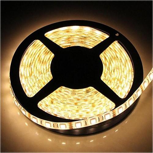 Купить со скидкой ZDM ™ водонепроницаемая 5м 72W 300  5050 СМД 4800lm теплый белый свет лампы светодиодные полосы (DC1