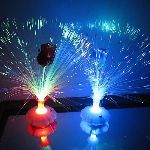 Светильник Coway ночной светодиодный в форме бутылки с оптическим волоконом и розой