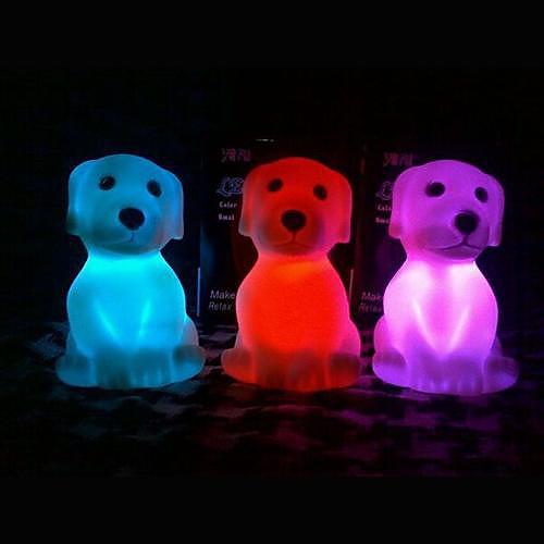 Coway Красочные Мопс Светодиодные Night Light Поставки Рождество Lovely