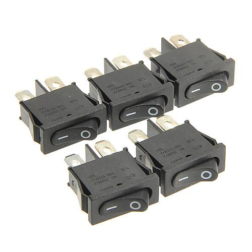 hongju diy t85 2-контактный переключатель качалки - черный цвет (5 шт)