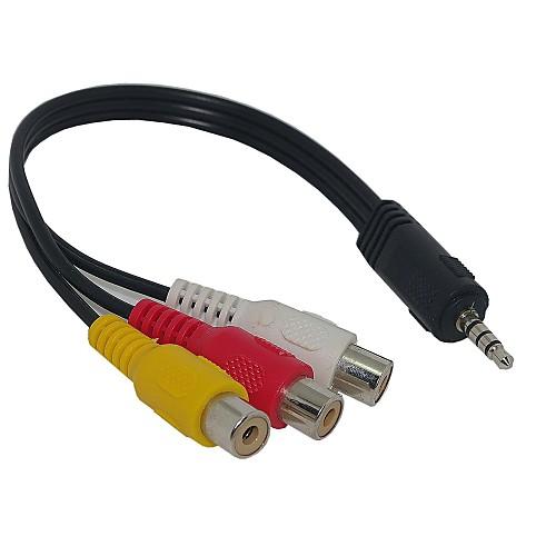 3,5 мм разъем для 3 RCA адаптер AV-кабель для аудио-видео 20см soaiy saaiy sa 115 улучшен аудио аудио аудио домашний кинотеатр беспроводной bluetooth эхо стена soundbar audio