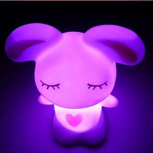 Coway Прекрасный Любовь Кролик Красочные светодиодной Night Light