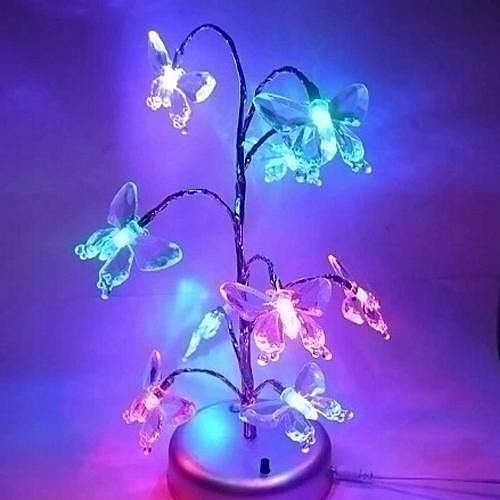 Coway рождественские мечты елка огни блестящие бабочки мини дерево свет водить ночи