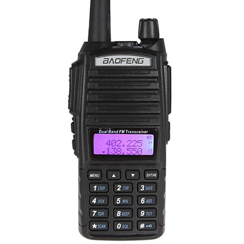 Фото BAOFENG UV-82 Радиотелефон Для ношения в руке Аналоговая 5 - 10 км 5 - 10 км 128CH 1800mAh Walkie Talkie Двухстороннее радио радиотелефон