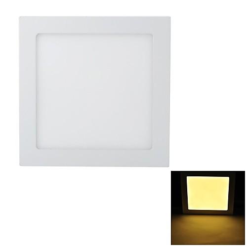 Marsing Супер тонкий 18W 1600lm 3200K 90-SMD 2835 LED теплый белый свет Square Потолочный светильник - (85 ~ 240 В)