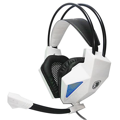 SADES SA709 Над ухом / Головная повязка Проводное Наушники пластик Игры наушник С регулятором громкости / С микрофоном / Шумоизоляция тепло и шумоизоляция