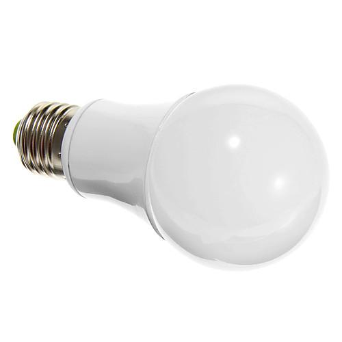 E26/E27 7W SMD 5730 600 LM Тёплый белый Круглые LED лампы AC 100-240 V <br>
