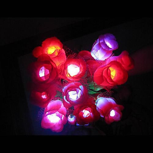 Coway красочным С Роуз светодиодной Night Light Романтическая пара Special (Random Color)