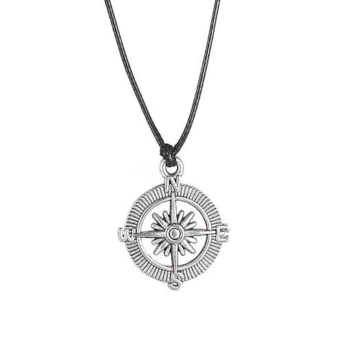 Муж. Ожерелья с подвесками - Нержавеющая сталь На заказ, Уникальный дизайн, Мода Серебряный Ожерелье Назначение Новогодние подарки, Подарок, Повседневные бижутерия в подарок