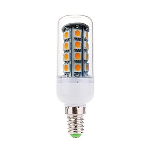 4 Вт. 350-380 lm E14 LED лампы типа Корн T 36 светодиоды SMD 5050 Декоративная Тёплый белый AC 220-240V