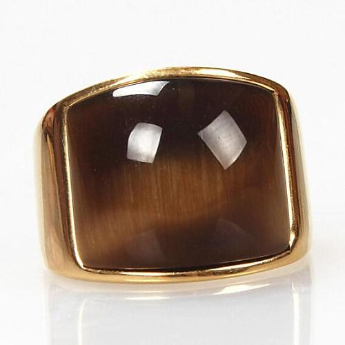 Крупное изображение Z&x мужская старинные опалы титана стальное кольцо miniinthebox