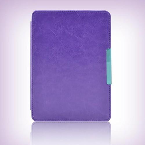 Кейс для Назначение Amazon Kindle Полноразмерные чехлы Чехлы с тесьмой на руку Чехол Сплошной цвет Твердый Кожа PU для чехлы на солярис в тольятти