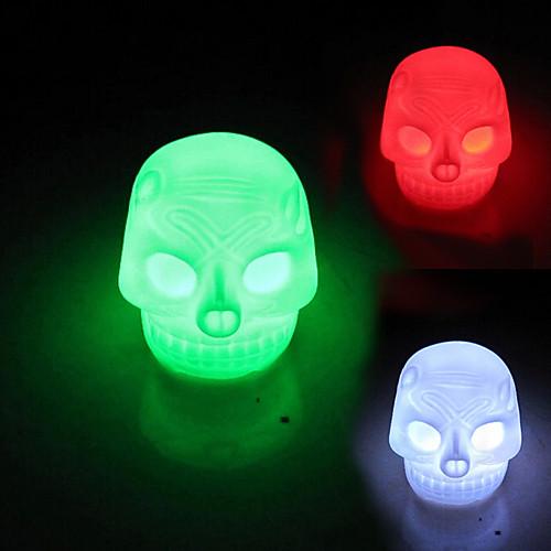 Coway черепа красочные светодиодные лампы Night Light Хэллоуин украшения