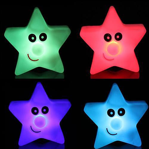 Coway Star Light Красочный пятизвездочный Светодиодные Night Light Малый фонарь
