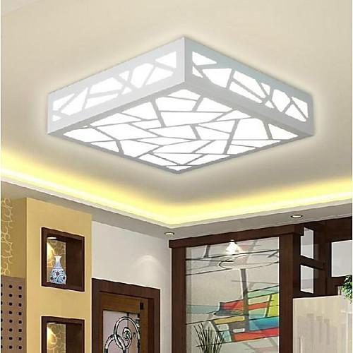 Модерн Монтаж заподлицо Рассеянное освещение - LED, 90-240 Вольт, Теплый белый Белый, Светодиодный источник света в комплекте люстры