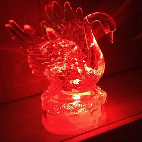 Coway Акриловые Кристалл Красочные Лебединое Светодиодные Night Light