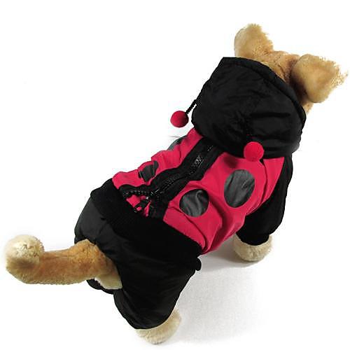 Кошка Собака Плащи Одежда для собак Контрастных цветов Хлопок Костюм Для домашних животных Муж. Жен. Сохраняет тепло Мода