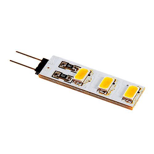 80-100lm G4 Двухштырьковые LED лампы 6 Светодиодные бусины SMD 5050 Тёплый белый Холодный белый 12V