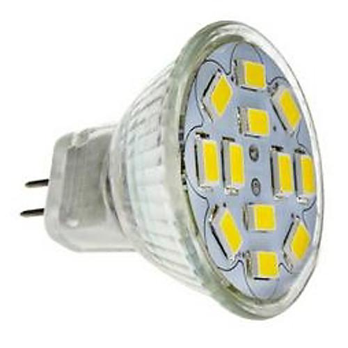Точечное LED освещение 560 lm GU4(MR11) MR11 12 Светодиодные бусины SMD 5730 Декоративная Холодный белый 12 V / RoHs / CE