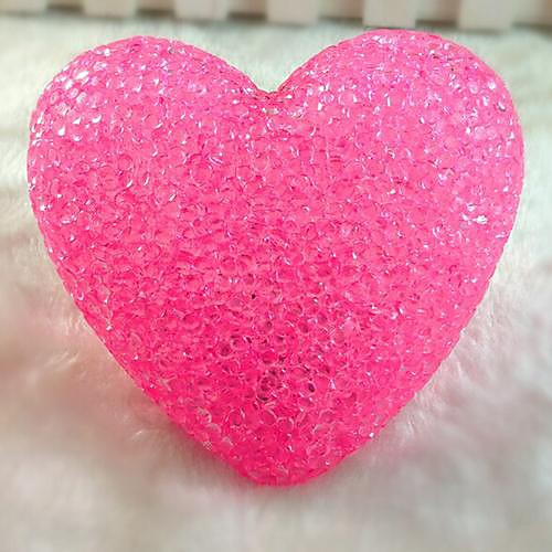 Coway кристаллический порошок Любовь Красочные Автоматическая светодиодной Night Light Свадебные украшения лампы