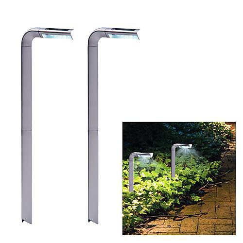2шт 4-светодиодный пластик Солнечной садовое освещение Мини светодиодный светильник 7 стиль всплеск света