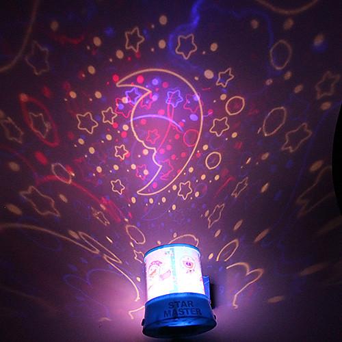 DIY Луна Романтический Galaxy Звездное небо Проектор Night Light для празднования Рождественский фестиваль