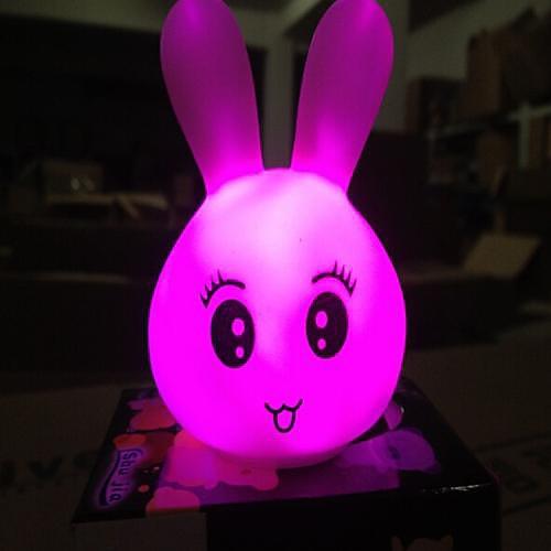 Coway Красочные Прекрасный Выражение Кролика LED Night Light
