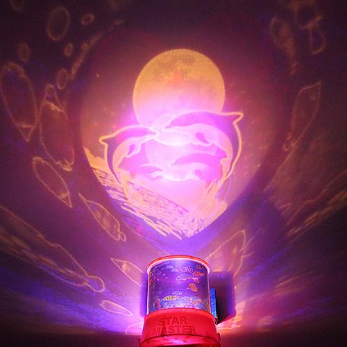 Светильник ночной с проекцией дельфинов на фоне романтического звездного неба (для вечеринки)