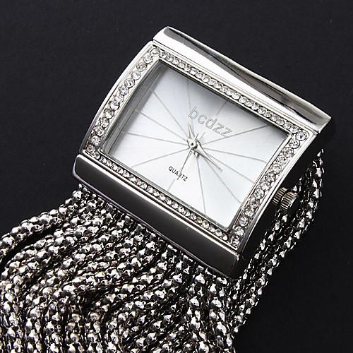 Жен. Часы-браслет Модные часы Японский Кварцевый Повседневные часы Медь Группа Роскошь Блестящие Elegant Серебристый металл от MiniInTheBox.com INT
