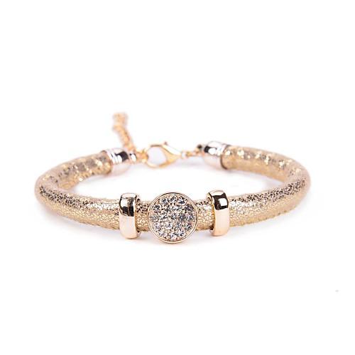 Купить со скидкой Женский Кожаные браслеты Акрил Ткань Имитация Алмазный Уникальный дизайн Мода Бижутерия Белый Серый