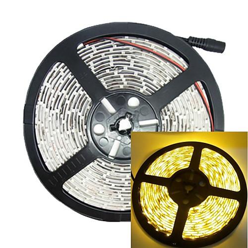 5м 30w 300led 3528smd 635-700nm dc12v IP68 водонепроницаемый полосы светло-желтого