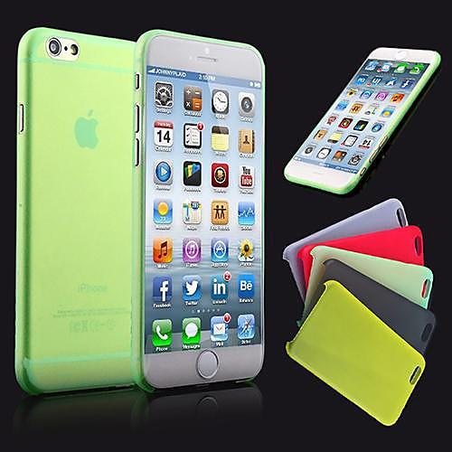 Кейс для Назначение Apple iPhone 6 iPhone 6 Plus Ультратонкий Матовое Полупрозрачный Кейс на заднюю панель Сплошной цвет Твердый ПК для