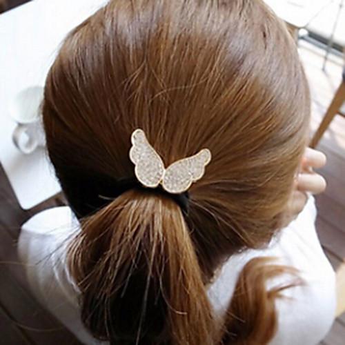 корейский мило маленькие крылья ангела алмазов упругой волосы резинкой канат небольшой размер
