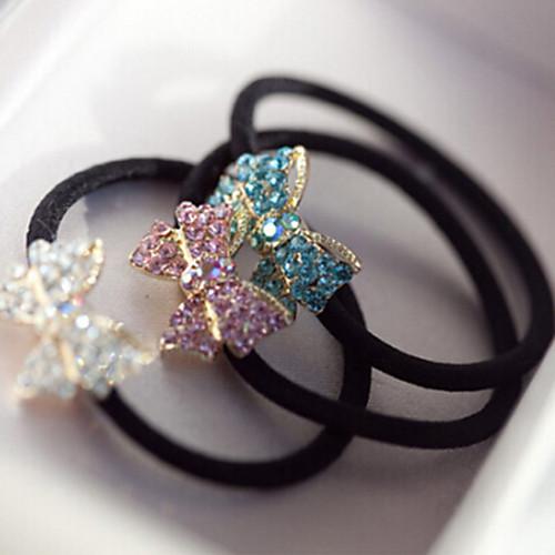 Корея ювелирных небольшой алмаз лук аксессуары для волос волосы кольцо волос веревки случайный цвет
