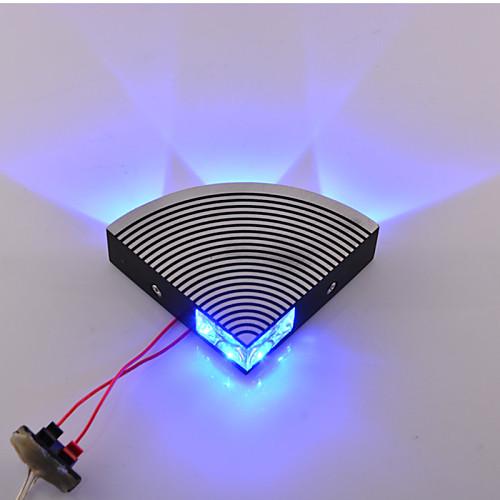 Светодиодные 4шт High Power LED Крытый 4W Синий Настенные светильники AC85-265V