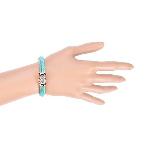 Женский Кожаные браслеты Акрил Ткань Имитация Алмазный Уникальный дизайн Мода Бижутерия Белый Серый Лиловый Зеленый Золотой Бижутерия 1шт от MiniInTheBox.com INT