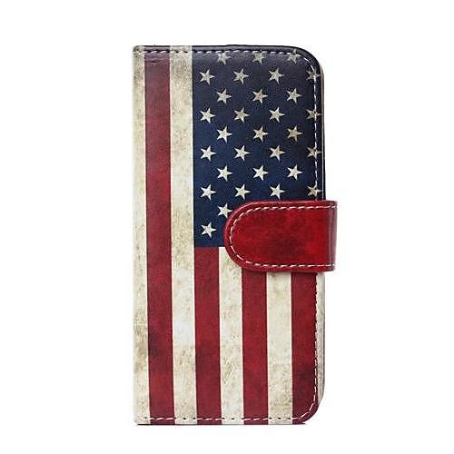 Кейс для Назначение Apple iPhone 6 Plus / iPhone 6 Кошелек / Бумажник для карт / со стендом Чехол Флаг Твердый Кожа PU для iPhone 6s Plus / iPhone 6s / iPhone 6 Plus защитный чехол для iphone 6 plus 6s plus с отделением для банковских карт